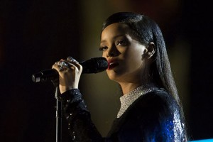 Rihanna sings during Concert for Valor in Washington D.C.